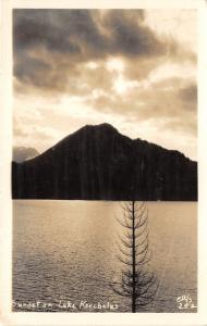 Washington~Keechelus Lake @ Sunset~Note on Back~Vintage Real Photo Postcard