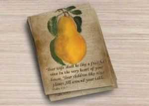 Fine Art Postcard Set of6 Psalm 128:3 Your wife shall be like a fruitful vine...