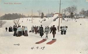 br105496 park slide montreal canada ski bob sleigh