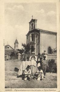 CPA Djibouti Afrique - L'Église orthodoxe et plus loin (87039)