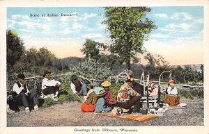Indian Post Card Wisconsin Indians Kilbourn, Wisconsin, USA Postcard Unused