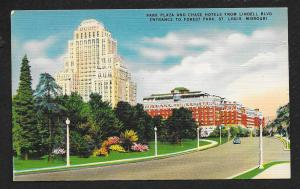 Park Plaza Chase Hotels Lindell Blvd St Louis MO used c1940s