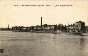 CPA NEUVILLE-sur-SAONE - Quai Armand-Barbes (639808)