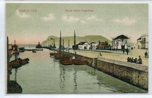 Gibraltar Rock from Algeciras UK 1910c postcard