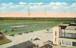 Fort Bragg Planes Pope Field North Carolina Kropp Linen 1942 Postcard 20-6728