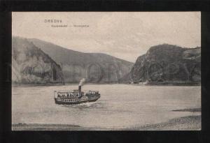 060281 HUNGARY Orsova Kazanreszlet ship Vintage PC