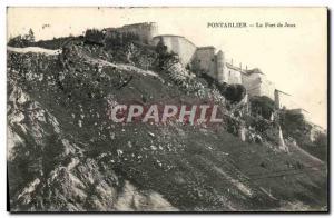 Old Postcard Pontarlier Fort de Joux