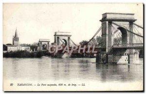 Old Postcard Tarascon Suspension Bridge