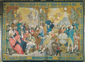 VANCOUVER, British Columbia, Canada, 1950-60s; Gobelin Tapestry On The Histor...