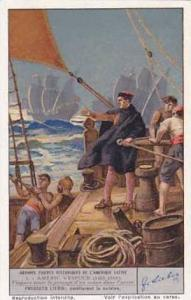 Liebig Vintage Trade Card S1380 Great Men In Latin American History 1938 No 1...