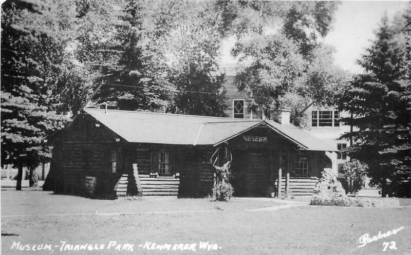 Kemmerer Wyoming Museum Triangle Park 1962 Sanborn RPPC Photo Postcard 21-6669