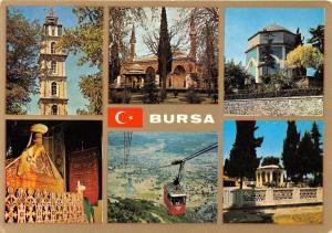 Turkey Bursa Multiviews of the city Cable car Church Eglise