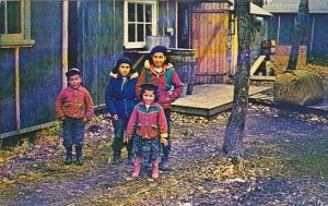 Canada Cree Indian Children At Moosonee On James Bay