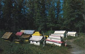 Indian burial grounds near Eklutna Village about 23 miles from ANCHORAGE, Ala...