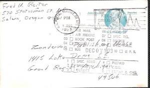 US Pre-stamped used Postcard UX64 John Hanson, Patriot