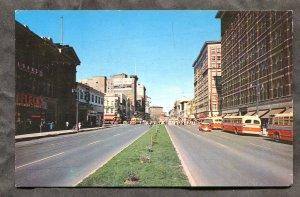 5288 - WINNIPEG Manitoba 1950s Portage Ave. Busses