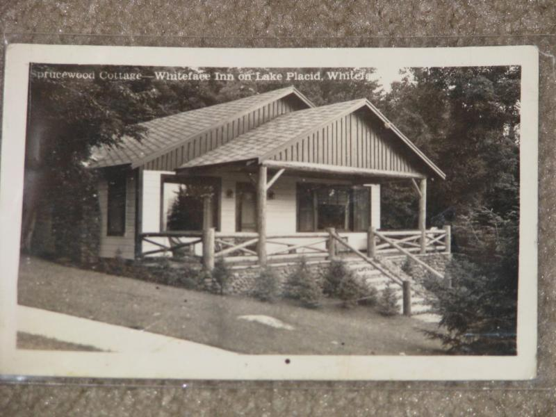 Sprucewood Cottage-Whiteface Inn on Lake Placid, N.Y. 1944, Actual Photo