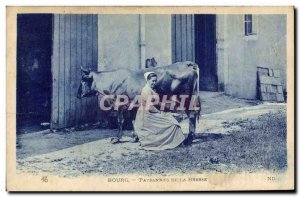 Old Postcard Folklore Bresse Bourg Bresse Farmers Cow