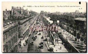 Paris Old Postcard Rue de Rivoli to the Louvre