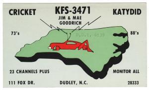 QSL, KFS3471, Dudley, North Carolina
