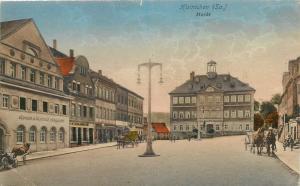 Hainichen Markt Germany Allemagne 1924