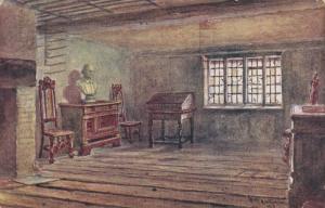 William Shakespeare's Birthroom, Stratford-Upon-Avon, Warwickshire, England 1935