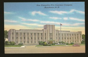USA New Hampshire Fire Insurance Building Manchester NH Linen Postcard