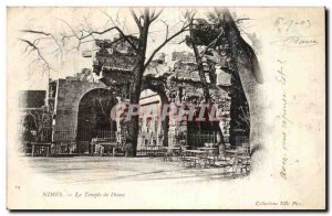 Nimes - The Temple of Diana - Old Postcard
