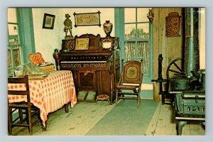 Minden NE- Nebraska, Elm Creek Fort Kitchen, Pioneer Village, Chrome Postcard
