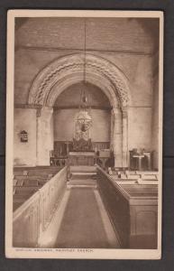 United Kingdom Churches - Pauntley Church 1943 - Interior View of Roman Arch