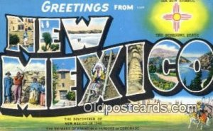 New Mexico USA Large Letter Town Unused