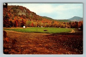 Glen NH- New Hampshire, Green Meadow Camping Area, Chrome Postcard