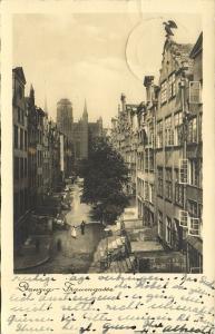 poland germany, DANZIG GDANSK, Frauengasse (1930s) RPPC