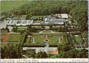 postcard Aerial Longwood Gardens, north of Wilmington Delaware
