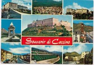 Souvenir di Cassino, Italia, Italy, used Postcard