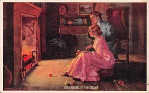 Artist~The Hanging of the Crane Romantic Couple in Parlor~Fireplace~Ullman