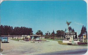 WABASSO FL - PENN WOOD COURT MOTEL 1950s era / near SEBASTIAN INLET