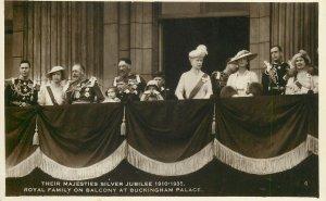British royalty majesties silver jubilee royal family  Postcard