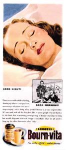 Vintage Reproduction Newspaper Advertising Postcard Cadburys Bourn-Vita OS173