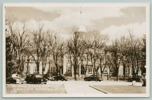 Carson City Nevada~State Capital Building Between Budding Trees~1950s RPPC