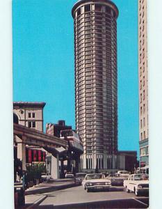 Unused Pre-1980 OLD CARS & WASHINGTON PLAZA HOTEL Seattle Washington WA Q5713