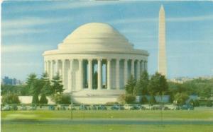 Washington DC - Jefferson Memorial and Washington Monumen...