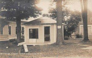 LPV41 Lunenburg Vermont VT Postcard RPPC Bowkers Shady Shop Ice cream Parlor