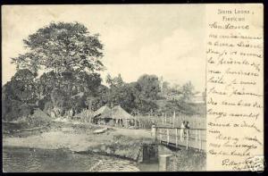 sierra leone, FREETOWN, Native Houses (1908)