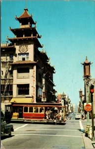San Francisco CA, Chinatown - 1960 - POSTED California Chrome Postcard