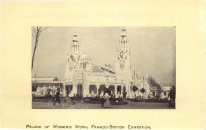 Postcard exhibitions Franco-British exhibition palace of Women's Work