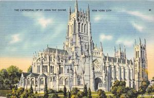 12313  New York City 1940's  The Cathedral of St. John the Divine