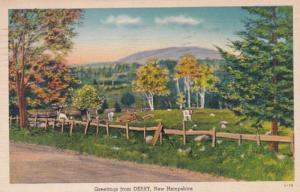 New Hampshire Greetings From Derry 1943