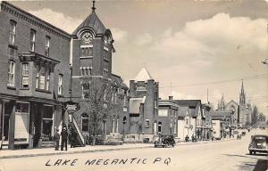 Lake Magantic P. Q. Rexall Drug Store Bank of Montreal Dentist RPPC Postcard