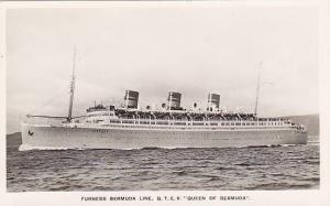 RP, Steamer/Ship/Oceanliner, Furness Bermuda Line, Q.T.E.V. Queen Of Bermuda...